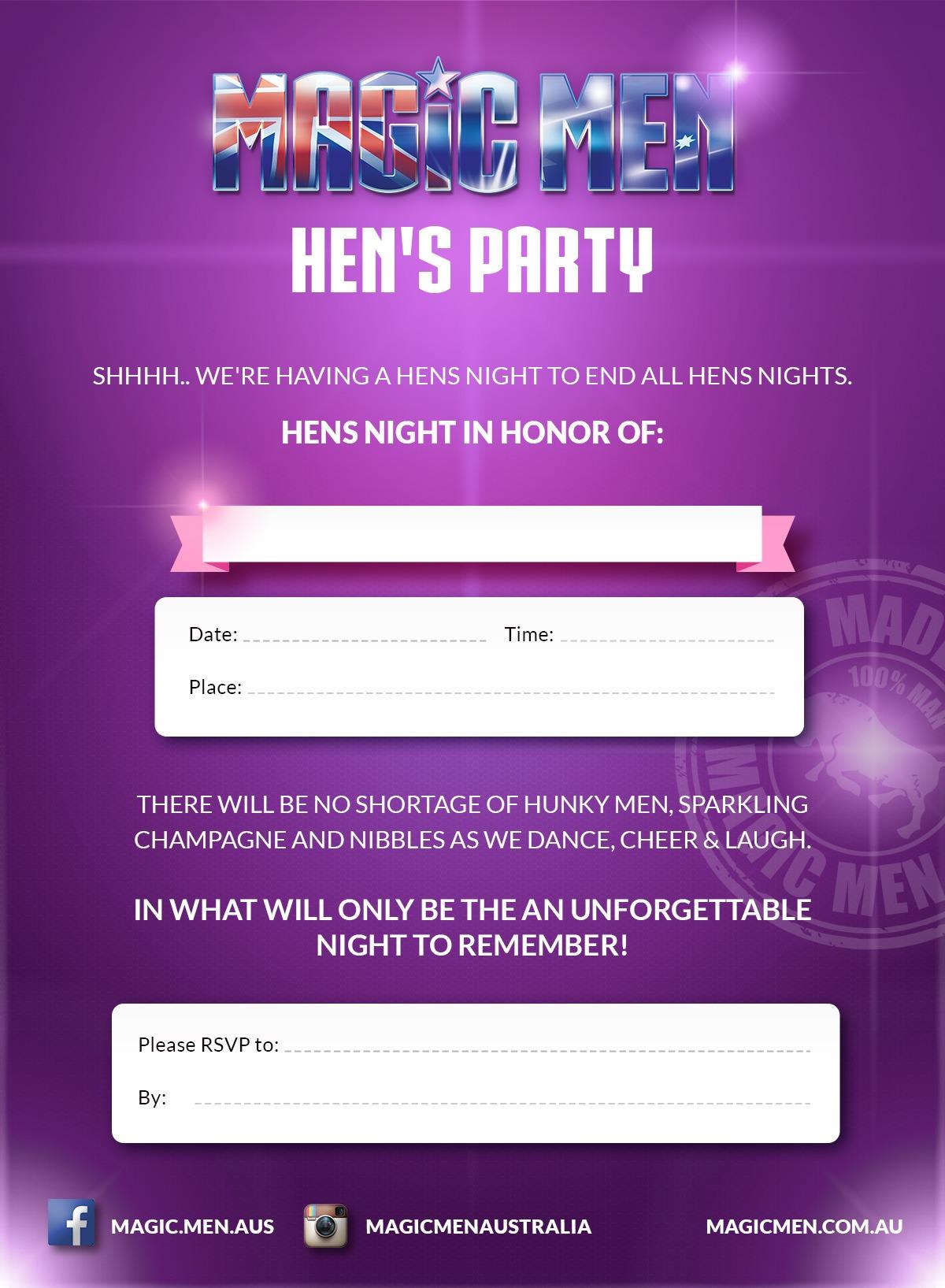 Hens Party Invite